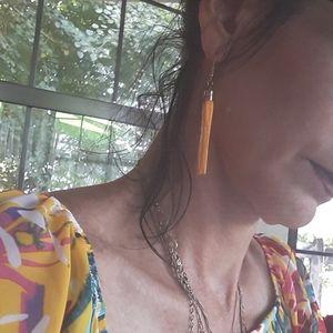 Nwt Yellow Tassle Earrings! Fun Summer Yellow!
